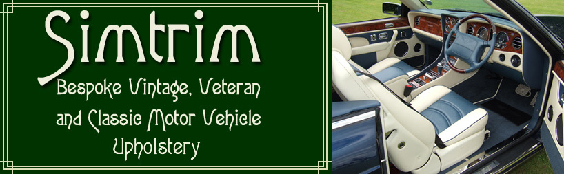 Simtrim - Bespoke Vintage, Veteran and Classic Motor Vehicle Upholstery